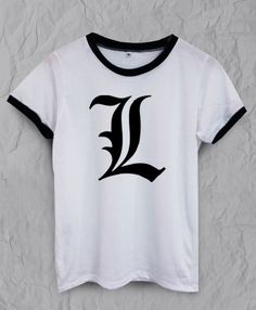 Anime Series 'L' Inspired T-Shirt - Available in Men's and Women's