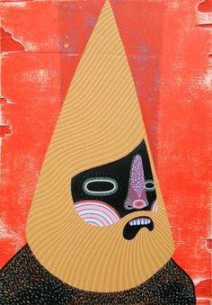 Dan Withey Cone Head- 2013 Acrylic on board 60 x Dan, Board, Planks