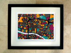 Glasgow Art Map Limited Edition Contemporary by FirewaterGallery