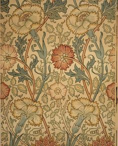 """Pink and Rose"" - Designer: William Morris, 1834-1896 - Manufacturer and retailer: Morris & Co. - Hand-block-printed wallpaper"