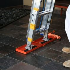 Before you head up, set up this ladder stabilizer for increased safety (and peace of mind). The heavy-duty traction pad works to secure a ladder and help prevent ladder kick out. Non-slip rubber grips Easy Woodworking Projects, Welding Projects, Woodworking Tools, Woodworking Jigsaw, Woodworking Furniture, Woodworking Accessories, Wood Projects, Woodworking Equipment, Woodworking Techniques