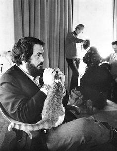Director Stanley Kubrick on set of A Clockwork Orange (1971)