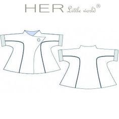 HER Little world, Patron de couture pour vêtement enfant, veste Craquante