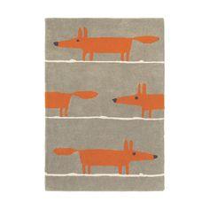 Scion - Mr Fox Rug - Cinnamon - 90x150cm