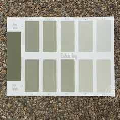 Chalk Paint® Chateau Grey Custom Color Chart using Pure White and Old White. Read more on our blog at Suitepieces.com | Suite Pieces