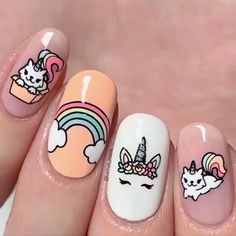 Want some ideas for wedding nail polish designs? This article is a collection of our favorite nail polish designs for your special day. Read for inspiration Flower Nail Designs, Short Nail Designs, Nail Polish Designs, Acrylic Nail Designs, Nail Designs For Kids, Acrylic Nails, Best Nail Art Designs, Unicorn Nails Designs, Unicorn Nail Art