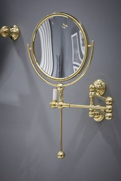 The 6918 Traditional Shaving Mirror mounts to the wall for a beautiful space saving design. Available from your nearest bathroom retailer. Gold Bathroom Accessories, Toilet Accessories, Compact Bathroom, Brass Bathroom, Bath Rack, Cast Iron Bath, Bathroom Collections, Vintage Kitchen Decor, Kitchen Collection