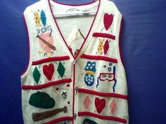 Eagle Eye Collectible Women's Vest Sports Mom 1996 Size Large EUC!! #EagleCollectibles