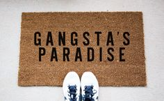 Paradise Doormat - Funny Doormat - Welcome Mat - Funny Rug - Reminder Rug - Sassy Doormat - Sassy Doormat - Unique Doormat - Quote Mat by foxandcloverboutique on Etsy https://www.etsy.com/listing/293549685/paradise-doormat-funny-doormat-welcome