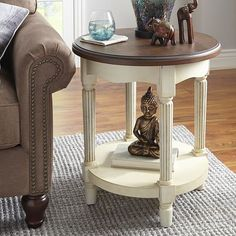 Anya Round End Table- matches the dining set!