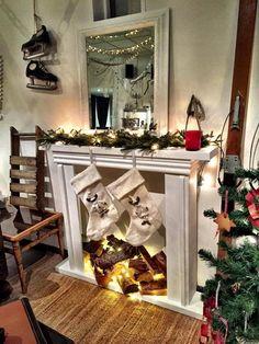 Christmas decorations. Scandinavian Christmas decorations. Systur&Makar, Christmas in Iceland.  Candle fireplace