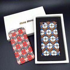 ミュウミュウmiu miu iphone6s/6s plus ケース 花柄 ジャケット アイフォン6S/6 PLUSハードカバー 女性用