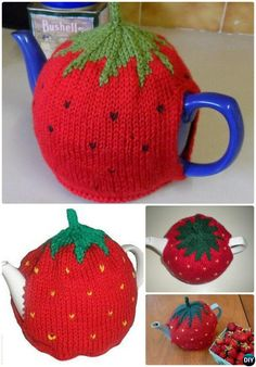 Knit Strawberry Tea Cosy Free Pattern-20 Crochet Knit Tea Cozy Free Patterns