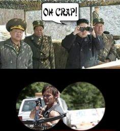 Daryl Dixon Visits North Korea Meme | Slapcaption.com