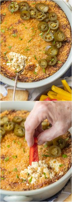 It doesn't get better than HOT JALAPENO POPPER DIP! A little bit spicy, a little bit creamy, and a whole lotta flavor. We love this dip for tailgating! via @beckygallhardin