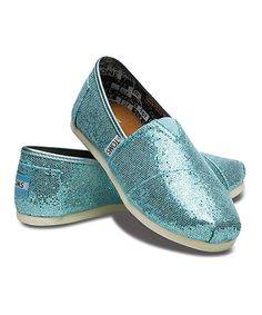 Love this TOMS Turquoise Glitter Classics - Youth by TOMS on #zulily! #zulilyfinds