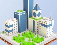 Buy Low Poly City Block Skyscraper Buildings by on Present to you the low poly city block with 4 buildings and one Skyscraper . The model was created in modern style. Street Trees, Big Clocks, Travel Brochure Template, City Block, Glass Facades, 3d Assets, Street Lamp, Cinema 4d, Low Poly