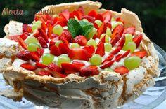 Pavlova, Mole, Sugar Pie, Sweet, Desserts, Tea, Kitchen, Healthy Dessert Recipes, Strawberry Meringue