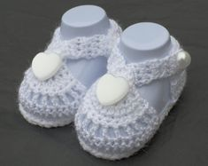 Baby Blessing Shoes Baptism Shoes Christening by DaisyNeedleWorks