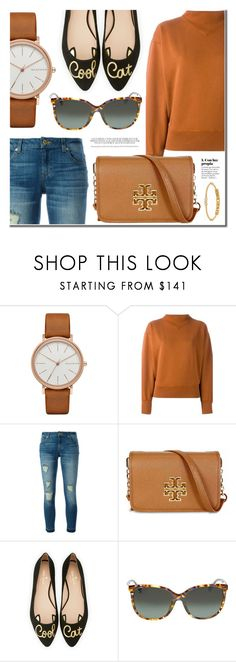"""Friday's Look"" by jomashop ❤ liked on Polyvore featuring Skagen, Étoile Isabel Marant, MICHAEL Michael Kors, Tory Burch, Kate Spade, Gucci, Anne Klein, Fall and brown"