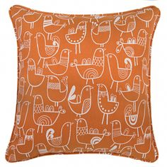 orange scandi birds Overstock