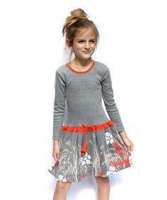 Loving this Gray Leah Drop-Waist Dress - Infant, Toddler & Girls on #zulily! #zulilyfinds