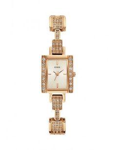 Guess Ladies Rose Gold Retro Bracelet Watch W0136L3 | WatchCorridor