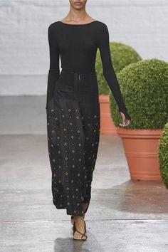 Tibi - Lace-up Ribbed-knit Sweater - Black - medium