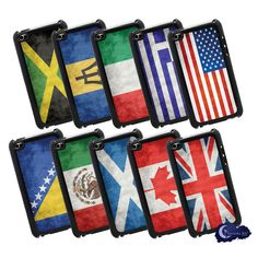 Flags of the World iPod Touch 4th Gen Covers by InsomniacArts.com