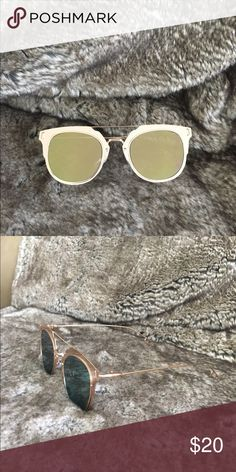 4bdb00effc9caf Gold mirrored sunglasses! Brand new never worn Gold mirrored sunglasses  that are all the trend