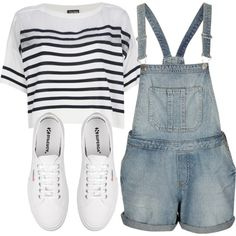 #overalls #outfit #polyvore