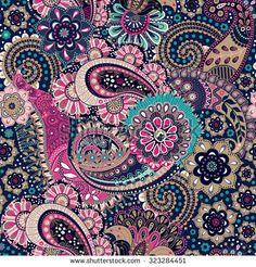 Find Seamless Paisley Background Floral Pattern stock images in HD and millions of other royalty-free stock photos, illustrations and vectors in the Shutterstock collection. Ethnic Patterns, Pretty Patterns, Paisley Design, Paisley Pattern, Paisley Background, Quote Prints, Vector Pattern, Royalty Free Images, Character Art