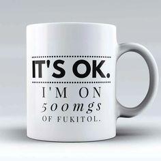 coffee mugs Limited Edition - quot;Its Okq - coffee Funny Coffee Cups, Cute Coffee Mugs, Cute Mugs, Funny Mugs, Funny Gifts, Coffee Gifts, Easy Drawing Tutorial, Coffee Mug Quotes, Coffee Humor