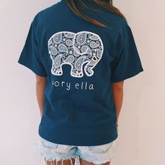 Our classic tee! Super soft with a comfortable fit andthe perfect length for pairing with your favorite leggings or jeans. Screen-printedin America 100% Cott