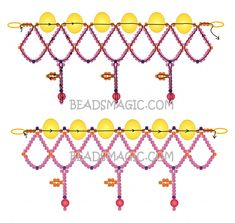 Free pattern for necklace Aurora | Beads Magic-2 U need seed beads11/0, round beads, 4mm, pearl beads 8mm