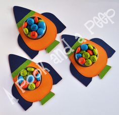 Outer Space Rocket Ship Birthday or Shower Favor by APookandAPeep, $12.00