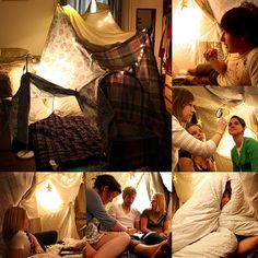 Things To Do With Kids list, idea, or suggestion Indoor Activities for Kids During the Polar Vortex of Doom: Part 1 The Blanket Fort Sleepover Fort, Adult Slumber Party, Sleepover Birthday Parties, Sleepover Invitations, Indoor Activities For Kids, New Years Eve Party, Summer Fun, Summer Bucket, Summer Time