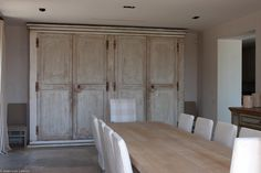 Rustic built in cupboards in dining room #bespoke #designer #storage #interiordesign #storageideas