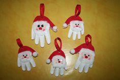 Père Noël empreinte de main en pâte à sel !