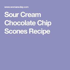Sour Cream Chocolate Chip Scones Recipe