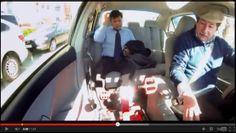 Taxi com pedal que gera desconto ao passageiro
