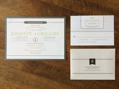 Modern style invitation design by I Do Concepts