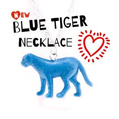 "A wonderful quirky unisex blue ""tiger"" necklace. Find this and other beautiful pieces of personal jewelry on our webshop (link in profile) ★★★WE SHIP WORLDWIDE AT ONE LOW RATE SHIPPING COST★★★ #modernjewelry #jewelrydesign #dakinijewelry #dakininu #dakinismykker #upcoming #upcycledjewelry #upcycling #blue #tiger #bluetiger #personaljewelry #quirky #dyreelsker #animallovers #animallover #handmade #madeindenmark #retrostyle #smykkedesign #uniquejewelry #funjewelry #weirdjewelry #quirkyjewelry"