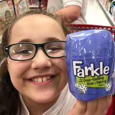 You know why she is so happy? She found her favorite dice game @target ! Have you heard of @playmonsterfun game called #Farkle ? It is a super fun game that our whole family enjoys. Get your copy at your local #target & enjoy your own #familygamenight . #game #games #socialspotters #ad #familyfun #family #gamers #dicegame #gamestagram #gamestagram #cookwith5kids