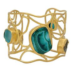 The Glam Skin Show Gold Cuff | Zariin Jewelry – Semi Precious Jewelry