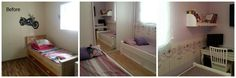 girl's room before and after by Ayelet Shtain interiors