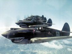 "Subject: Hell's Angels, the Squadron of the American Volunteer Group ""Flying Tigers"" Title: R. Smith photo, Hell's Angels, The Flying Tigers - China. Ww2 Aircraft, Fighter Aircraft, Military Aircraft, Fighter Jets, Hells Angels, Image Avion, Photo Avion, Ww2 Planes, Nose Art"