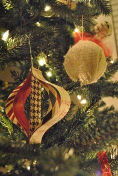 Awesome ideas for burlap christmas ornaments burlap christmas retro paper ornament burlap ornament solutioingenieria Gallery