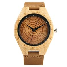 Trendy Stylish Hand-made Quartz Wooden Watches Wooden Watches For Men, Vintage Watches, Handmade Clocks, Handmade Wooden, Simple Watches, Casual Watches, Leather Wristbands, Black Rings, Stainless Steel Watch