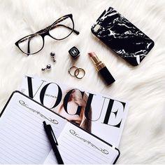 Chanel lipstick + flatlay